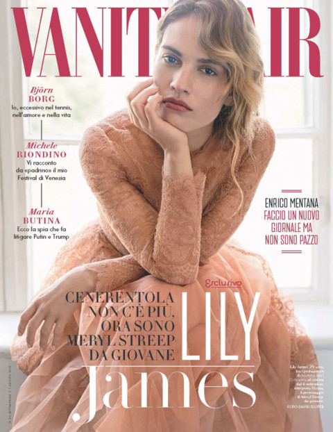 Ko Productions Vanity Fair Italia Lily James Cover